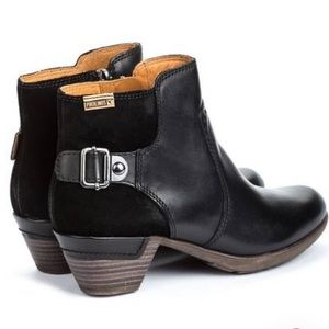 Pikolinos Rotterdam Black Ankle Boot buckle 8, 39